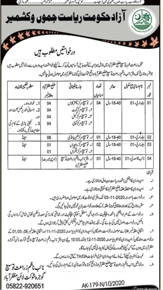 Agriculture Department Muzaffarabad Job Advertisement in Pakistan Jobs 2021