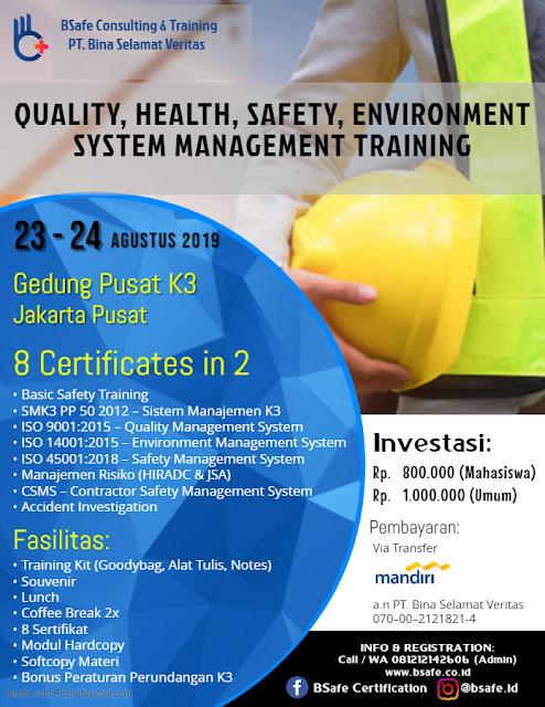 QHSE Training, ISO Training, K3 Training