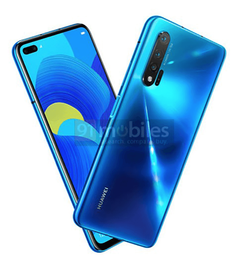Huawei Nova 6 5G renders