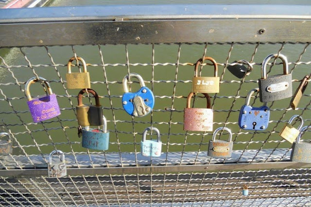 Love locks on a weekend break in Krakow Poland