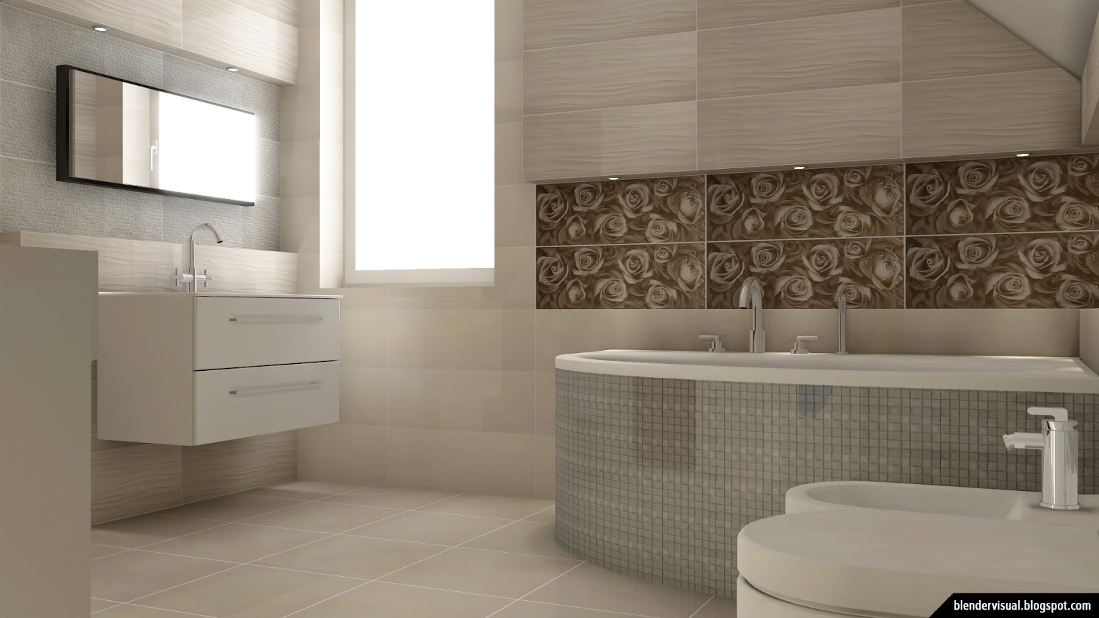 Visual blender daily render 002 the best functional bathroom design ideas - Five modern gadgets for a functional bathroom ...