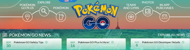 Pokémon GO official site news section outdated