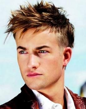 Potongan rambut pendek pria spike