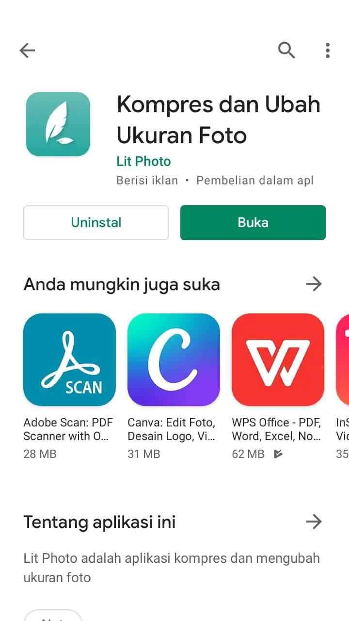 Perkecil foto dengan Android