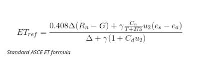 Evapotranspiration Rate Formula