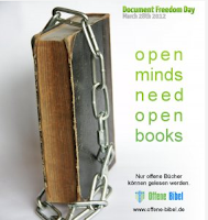 Document Freedom Day — Offene Bibel (Plakat)