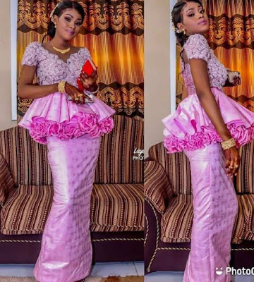 Peplum lace Asoebi Styles