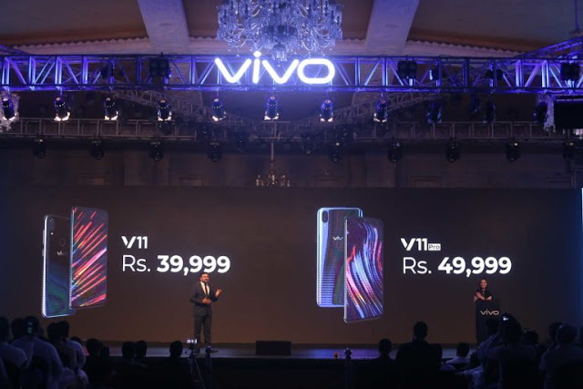 Vivo Launches the V11 & V11 Pro in Pakistan with In-Display Fingerprint Scanning