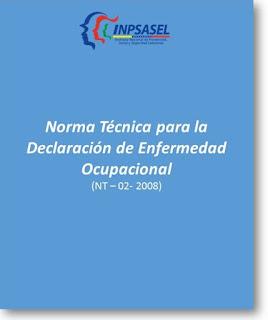 Norma Técnica,Declaración de Enfermedad Ocupacional,NT-02-2008