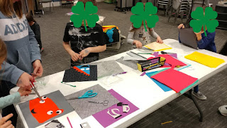 Making monster blocks with kids