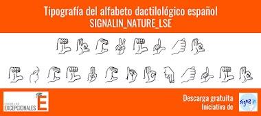 Tipografía gratis del alfabeto dactilológico
