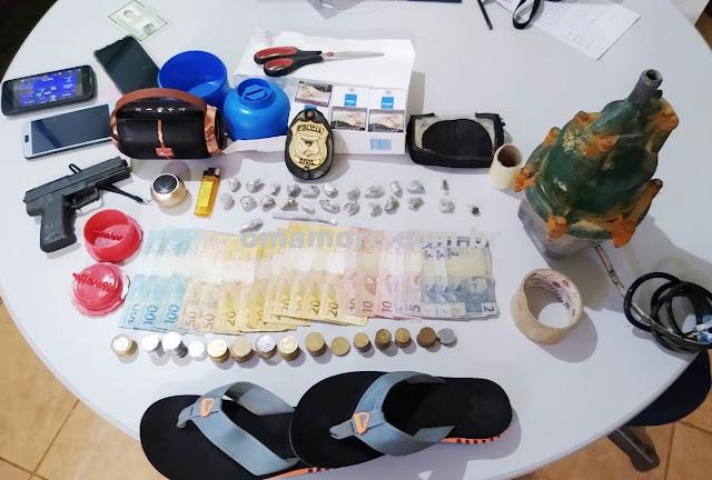 """Policiais do Sevic flagram comercialização de droga e desarticulam """"boca de fumo"""""""