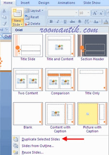 Duplicate Selected Slides