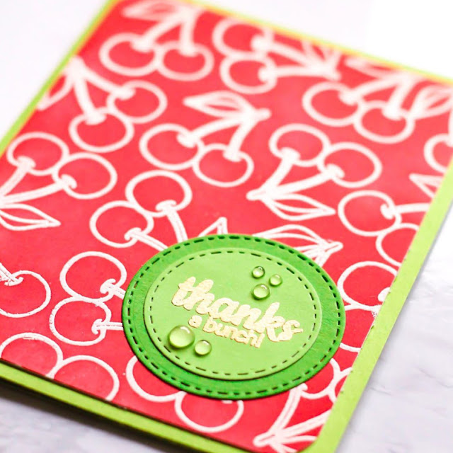 Sunny Studio Stamps: Fresh & Fruity Cherry Thanks A Bunch Card by Angela
