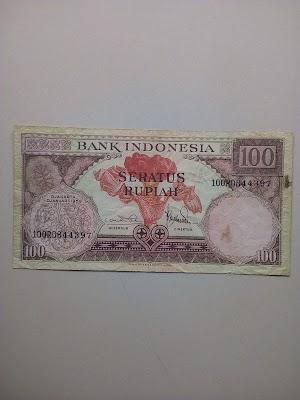 100 rupiah tahun 1959