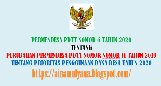 Permendesa PDTT Nomor 6 Tahun 2020