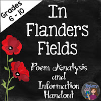 https://www.teacherspayteachers.com/Product/Remembrance-Day-In-Flanders-Fields-A-World-War-I-Poetry-Analysis-1914696