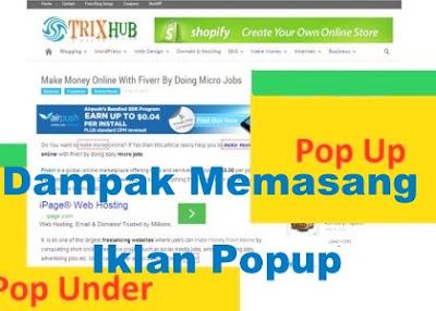 Dampak Negatif Memasang Iklan Popup Di Blog