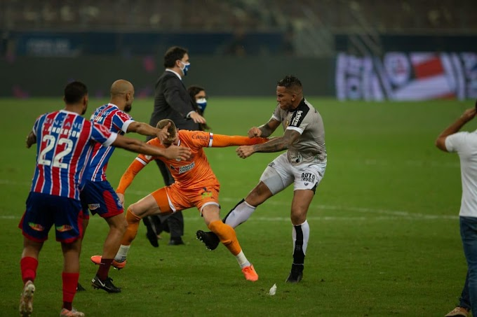 Final da Copa do Nordeste tem cinco jogadores expulsos após a partida por briga campal