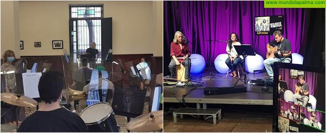 """Los Llanos avanza hacia la """"nueva normalidad"""" en el área de Cultura con la celebración del primer concierto con público en directo y los ensayos presenciales de la Banda de Música Municipal"""