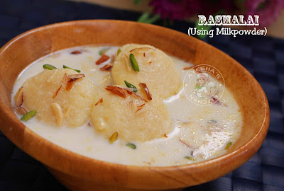 Rasmalai Indian cheese dessert milk powder dessert easy perfect