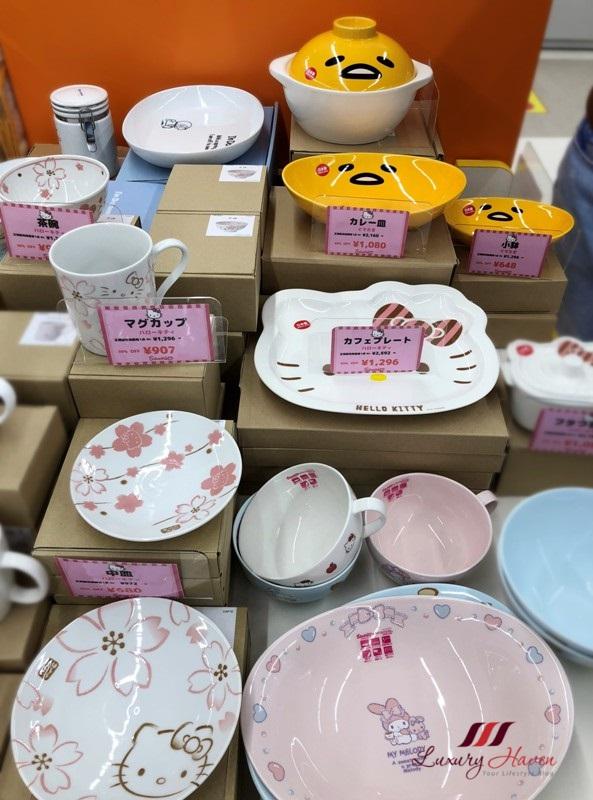 rinku town sanrio premium outlets gudetama cookware
