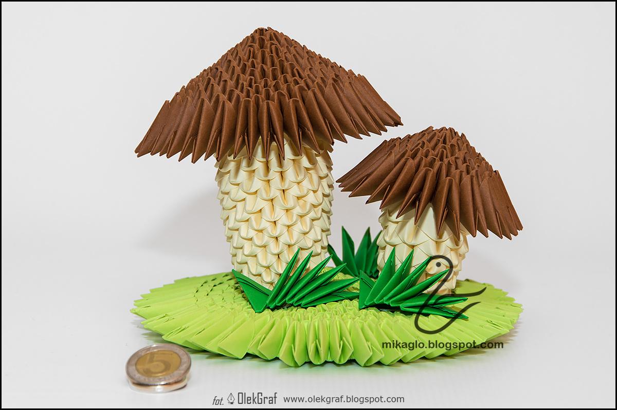 origami 3d mikaglo 335 jak zrobi� grzyby z origami