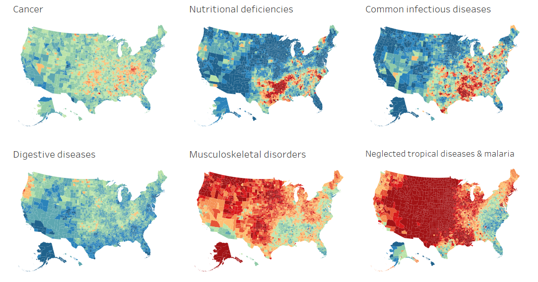 Changing Diseases, 1980 - 2014