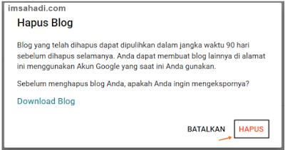 Hapus Blogger