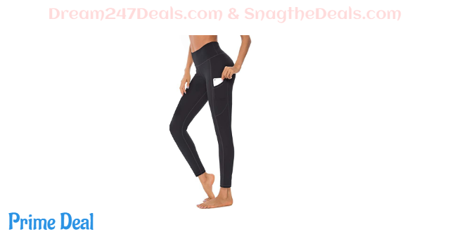 Women High Rise Leggings with Pockets Running Workout 58%OFF