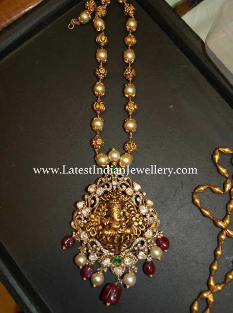 Ganesh Locket Beads Mala