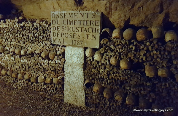 Bones deposited 1787 Catacombs Paris