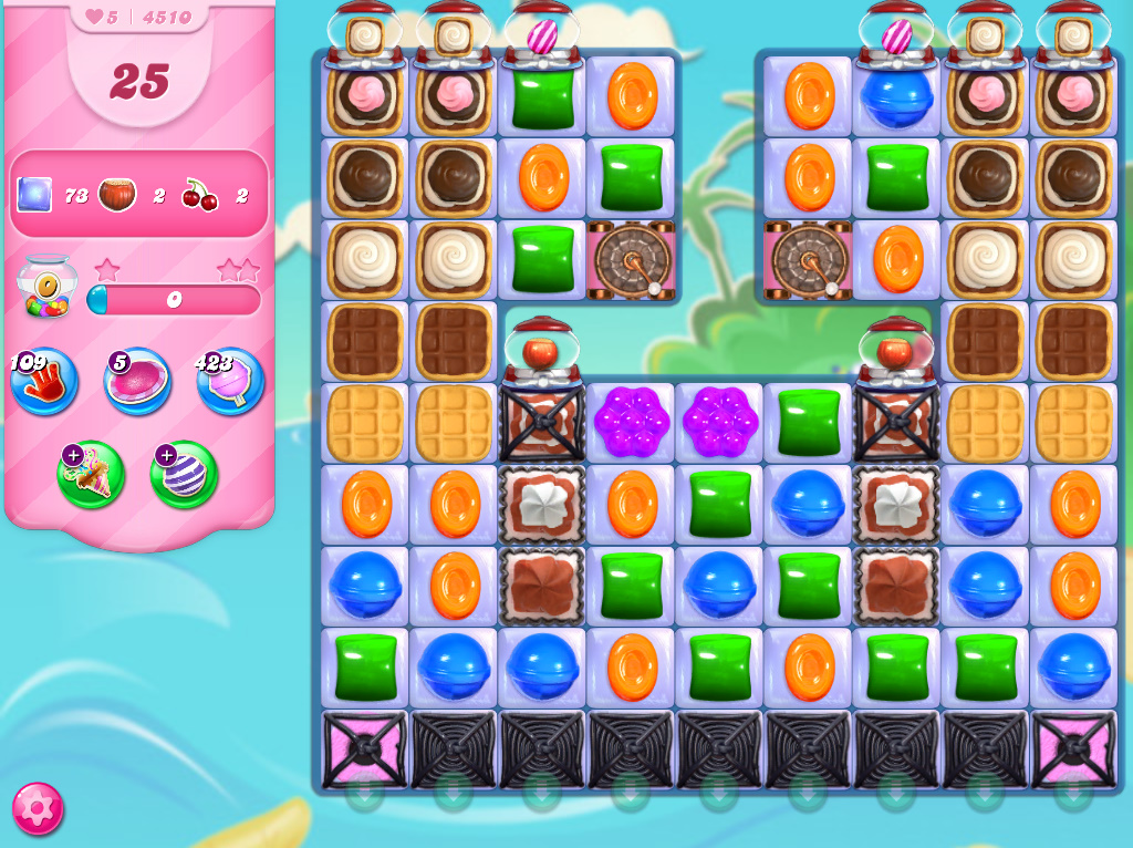 Candy Crush Saga level 4510