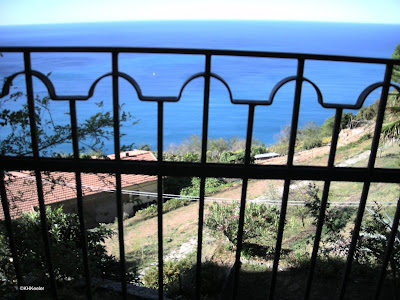 Looking out at the Mediterranean