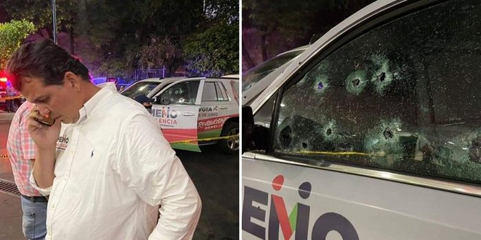 Video: Balean camioneta de Memo Valencia en Morelia; Michoacán a quien se le relaciona con el Narco desde hace años, hay dos heridos