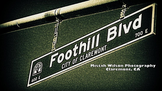 Foothill Boulevard, Claremont, California by Mistah Wilson