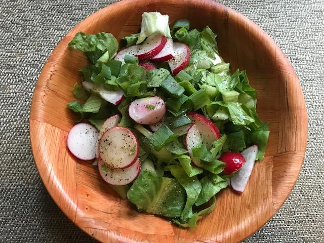 Vegan Crunk: Wilted Lettuce Salad