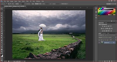 cara memotong gambar dengan crop tool photoshop