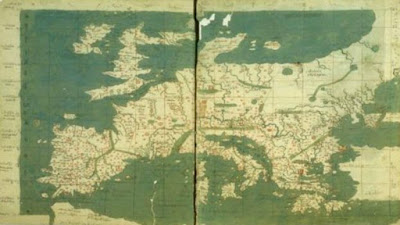 Σπάνιος Ελληνικός χάρτης της βυζαντινής εποχής που κρατείται στη Μυστική Βιβλιοθήκη του Βατικανού
