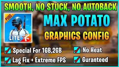PUBG Mobile Lite Potato Graphics Config - Lag Fix Config 1GB Ram