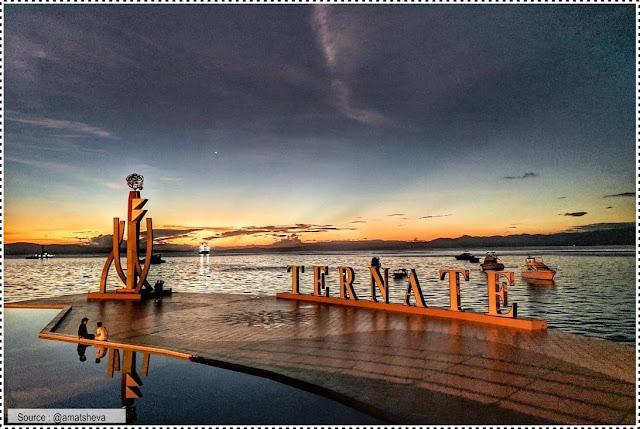 Landmark Ternate tempat berfoto yang instagramable