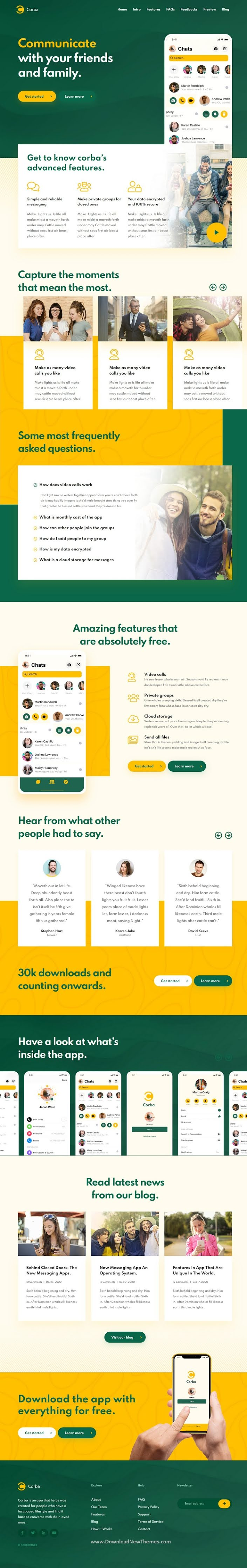 App Landing Page HTML Template