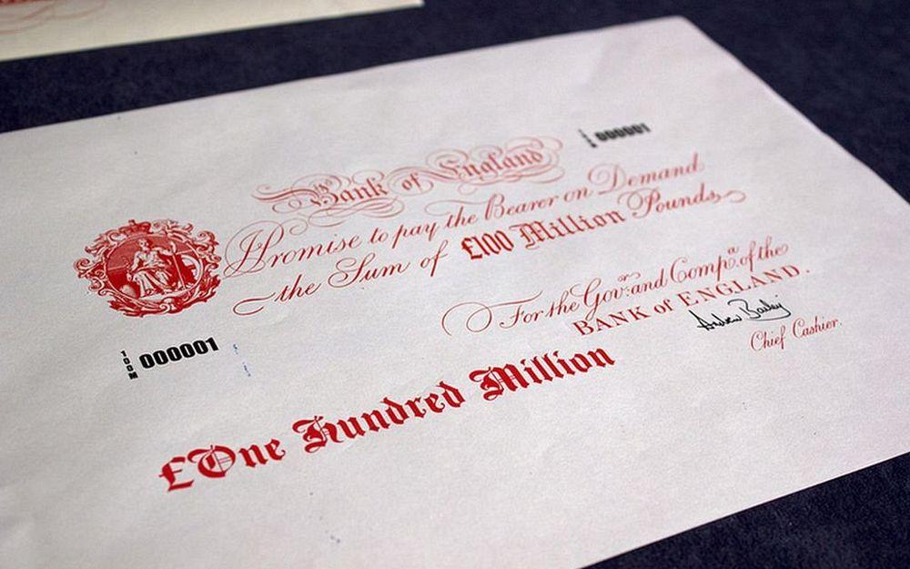 hundred million pound banknote