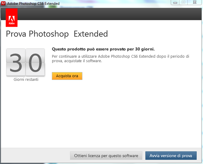 versione prova photoshop cs6