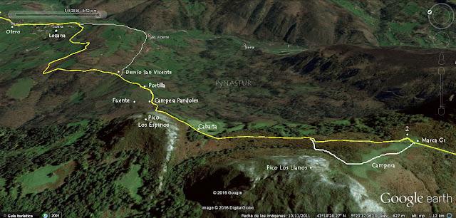 Mapa 2 - Camín Real del Sellón - Asturias