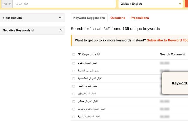 موقع keyword io من اهم الموقع للبحث عن الكلمات المفتاحية التي تساعد موقعك في تصدر عمليات البحث