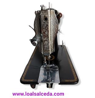 Maquina de coser alfa 40 vista de frente