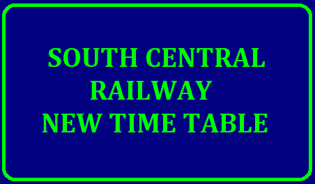 SOUTH CENTRAL RAILWAY NEW TIME TABLE 2019-2020 In view of new Time Table coming into effect from 1st July, 2019 the change in train timings of originating / terminating and passing through South Central Railway is detailed below for the information of passengers /2019/07/south-central-railway-new-time-table-download-pdf.html