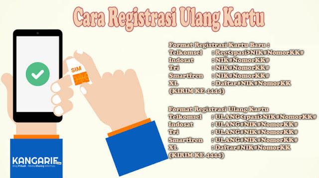 Cara Registrasi Ulang Kartu Semua Operator