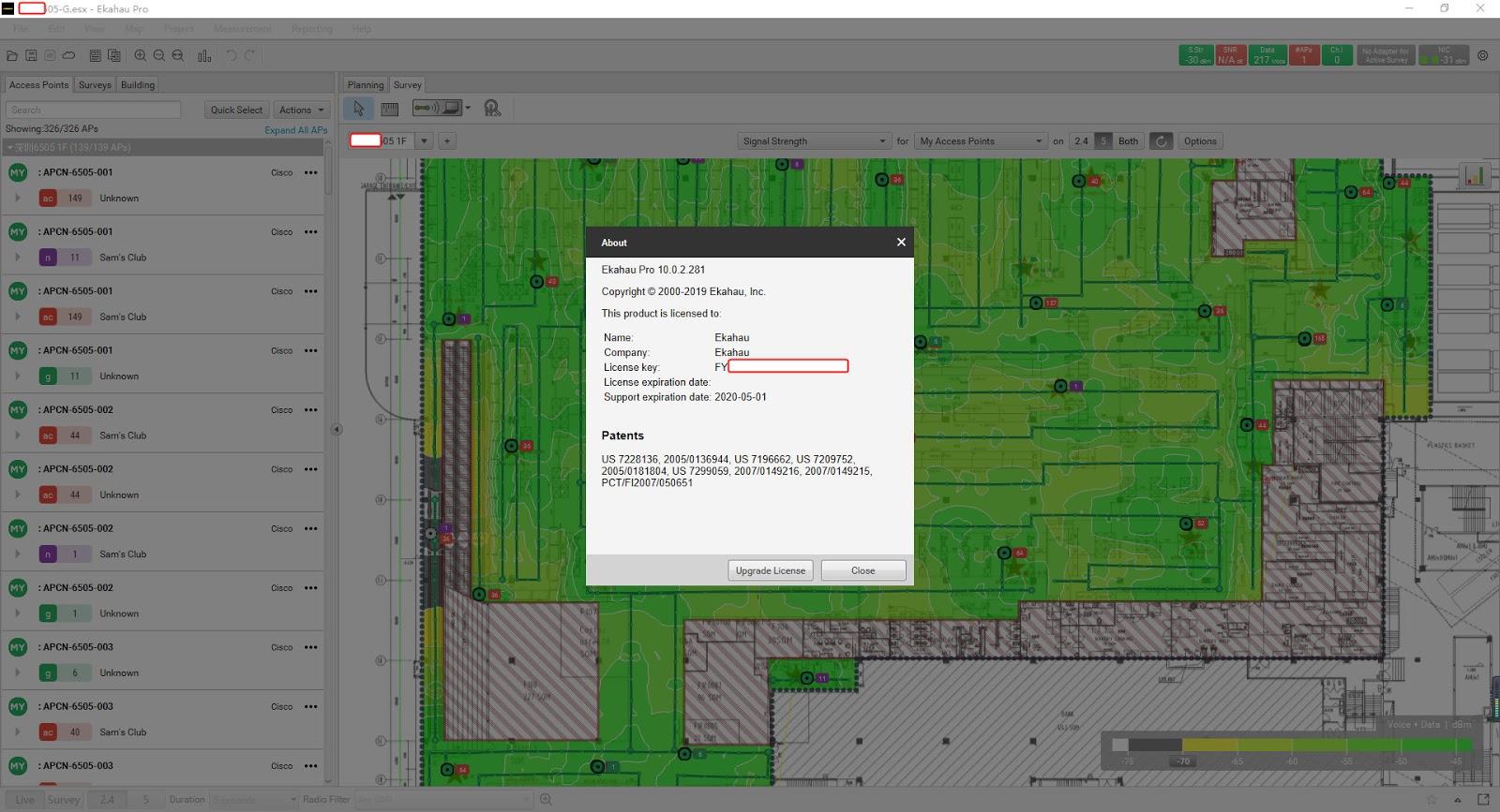 Software Solution: Ekahau Pro 10 0 license activation